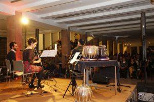 Basel Alkatrieb (Oud), Antje Taubert (Klarinette) und Ghandi Aljrf (Gesang)
